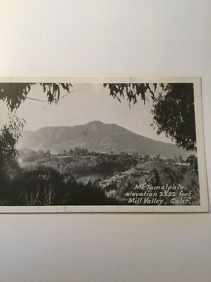 Old Postcard 1900's Mt Tamalpais Mill Valley California Real Photo Local H