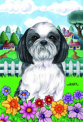 Garden Indoor/Outdoor Spring Flag (TP) - Shih Tzu 730111