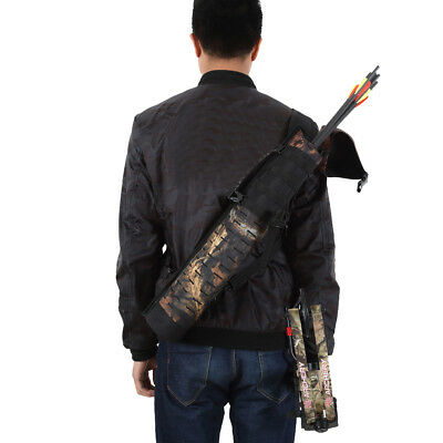 Outdoor Hunting Back Arrow Quiver Archery Bow Arrow Holder Bag Camouflage