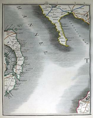SCOTLAND  NORTHERN IRELAND AREA  BY JOHN CARY  GENUINE ANTIQUE MAP  c1816
