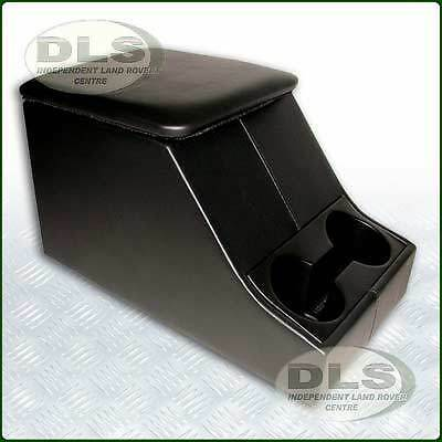 LAND ROVER DEFENDER - Black Vinyl Centre Cubby Box with Cup Holder (DA2035)