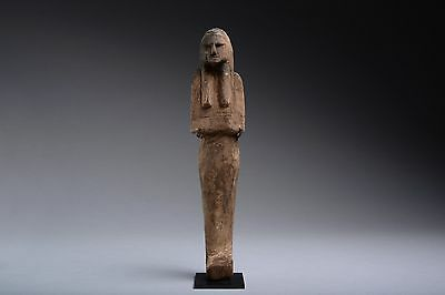 Ancient Egyptian New Kingdom Ramesside Wooden Shabti - 1187 BC