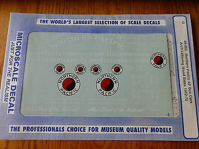 Microscale Decal O #48-393 Northern Pacific 40' Wd-Side or Steel Boxcars 1942-70