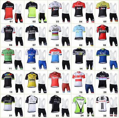 2017 style Short Sleeve Bib Shorts Padded Sports Suit Bike Cycling Racing Sets