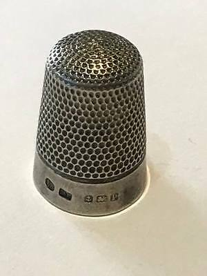 Antique Solid Silver Thimble Hallmarked