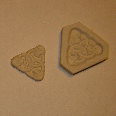 Celtic Triquetra Trinity Knot W/ Skulls Polymer Clay Mold Wicca, Pagan Jewelry