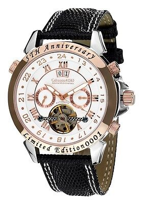 "Calvaneo 1583 Astonia ""5th Anniversary Steel Rose Gold Cream"" Automatic Watch"