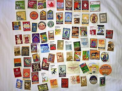 STARBUCKS Coffee Lot of 79 Different Collectible STICKERS