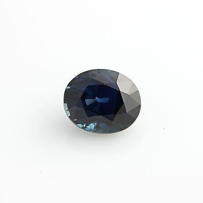 1.46ct Loose Genuine Sapphire Gemstone - Heated Oval Cut Blue Color