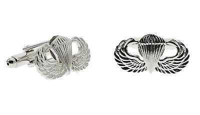 Military Paratrooper Dress Cufflinks Nickel-Plated H15570CCD125