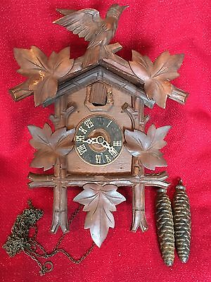 Antique Cold War German Black Forest Carved Cuckoo Clock Repair Parts