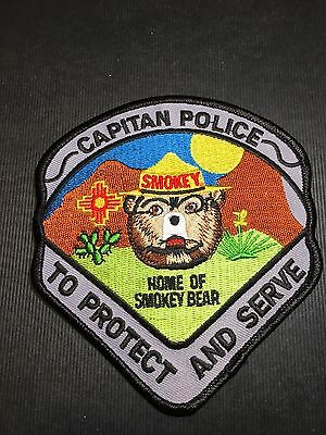 Capitan New Mexico Police Home Of Smokey Bear Shoulder Patch
