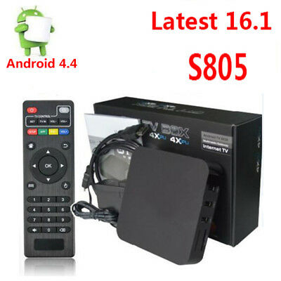 Android4.4 S805 Quad Core 1+8GB Smart TV BOX 1080P H.265 netflix HDMI Full