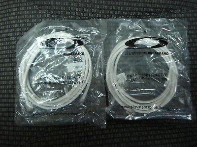 TWO ( 2 QTY ) 7 FT CAT5E WHITE RJ11  6P4C Data Cable Part NO. ASB1320-07W
