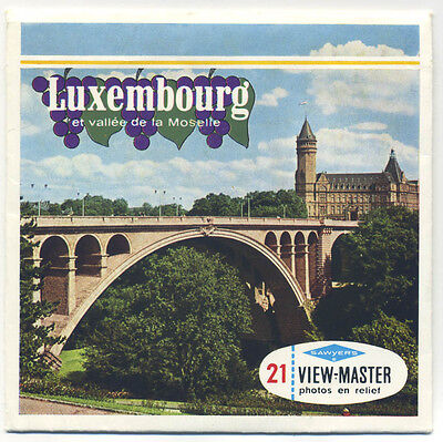 LUXEMBOURG and Moselle Valley Belgium-made ViewMaster Packet C-381-F French ed.