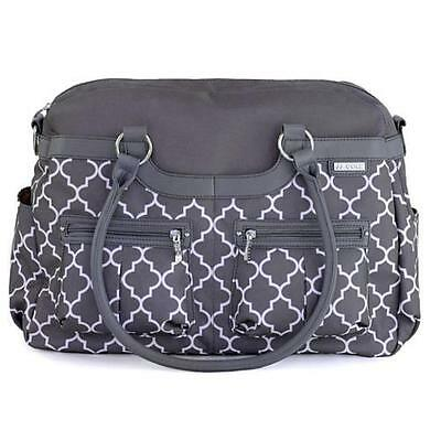JJ COLE Satchel Baby DIAPER BAG Stone Arbor w Changing Pad & Stroller Straps NEW