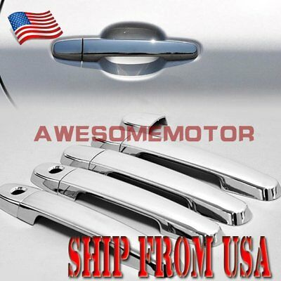 US Chrome Side Door Handle Cover Trims For Toyota Camry Yaris Corolla Prius RAV4