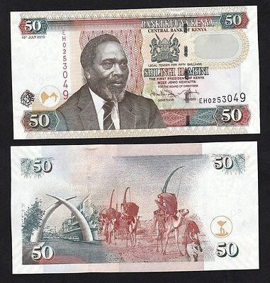 Kenya 50 Shillings (2010) P47e Paper Money - UNC