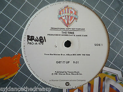 "THE TIME ~ Get It Up ~ 12"" Single USA PRESS PROMO"