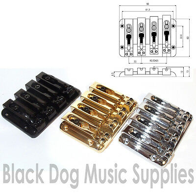 Quality 6 string Bass guitar bridge BB206 Black Gold or Chrome by Sung IL six