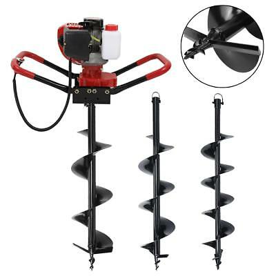 """56CC Gas Powered Post Hole Digger Earth Auger Ground Fence Drill + 6"""" 8"""" 10"""" Bit"""