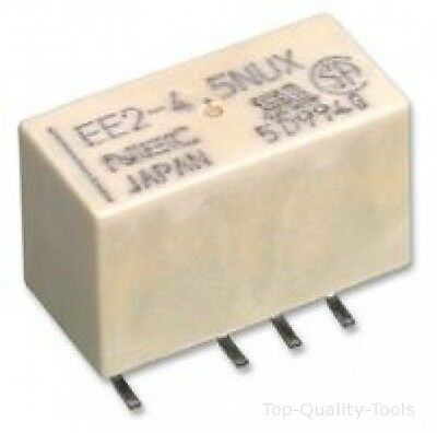 RELAY, DPCO, 2A, 24V, SMD, LATCHING Part # KEMET EE2-24SNU-L