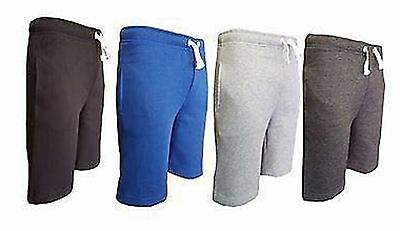 New Boys Drawstring Waist Poly-Cotton Jogging Shorts Bottoms
