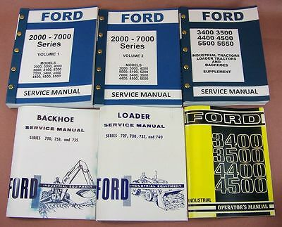Ford 3500 3550 Loader Backhoe Tractor Service Repair Shop Manual Owner Operators
