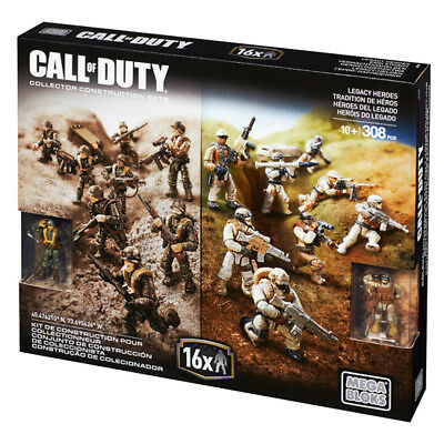 Call Of Duty Mega Bloks Legacy Heroes 308Pc Collector Construction Playset Toy