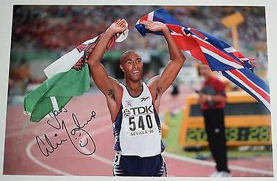Colin Jackson SIGNED 12x8 Photo Autograph Olympic Hurdles AFTAL Sport COA