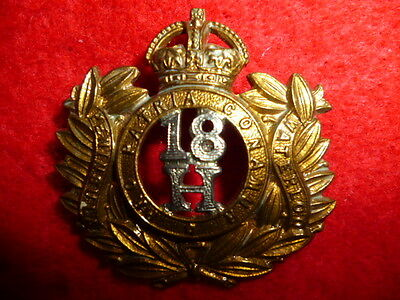 18th Hussars Cap or Collar Badge, WW1