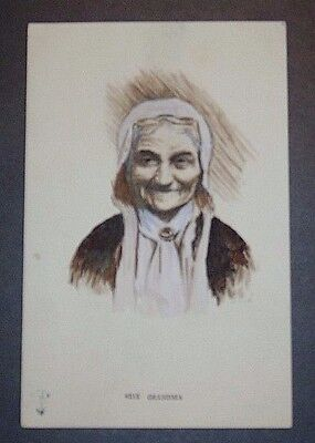 """Antique Postcard 4013 Early 1900's """"Grandma"""" Unposted"""