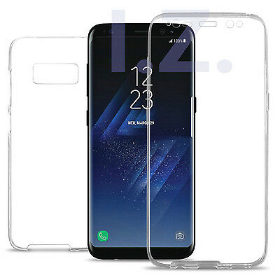 Clear Front+Back Full TPU Gel Case Cover For Samsung Galaxy S8 S9 Plus Note 9