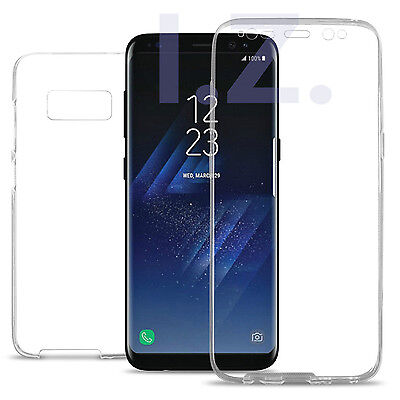 Clear Front and Back Full TPU Gel Case Cover For Samsung Galaxy S8/S8 Plus
