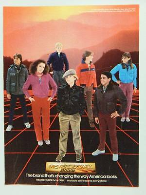 1984 Members Only Jackets - Vintage Magazine Ad Page - 80s Teen Fashions