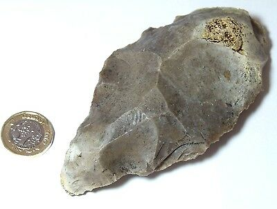 Superb Upper Paleolithic Stone Age Axe 122 Mm Long Derbyshire England