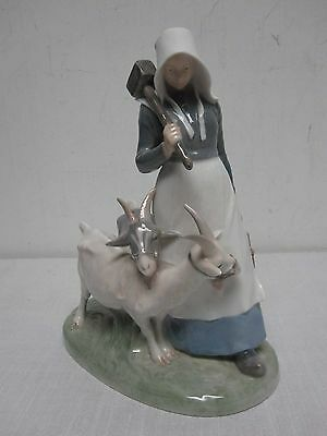"Vintage Royal Copenhagen Girl With Goats 9 1/4"" Figurine Model #694"