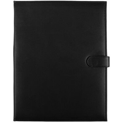C.R. Gibson Black Leatherette Padfolio By Markings 40pg Writing Portfolio Pocket