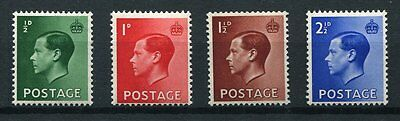 KEVIII 1936 Definitive Set, SG 457-460, MNH