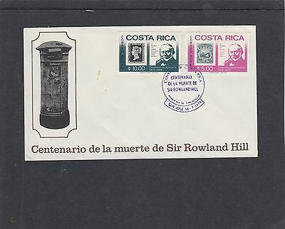 Costa Rica 1979 Rowland Hill 1d black stamp on stamp FDC San Jose special pmk