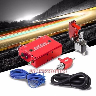 Red Dual Stage Electronic Manual Turbo Charger Boost Controller+Rocket Switch