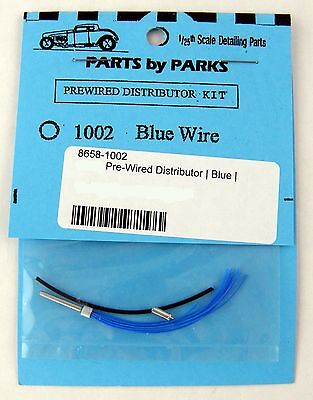 1:25 Scale Pre-Wired Distributor w/Blue Wire Model Detail - Parts by Parks #1002