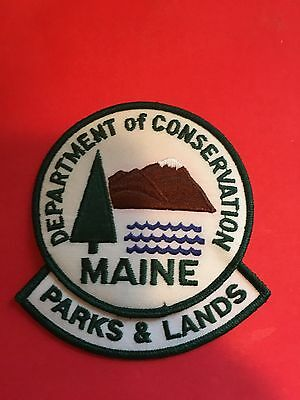 Maine Department Of Conservation Parks & Lands  Shoulder Patch
