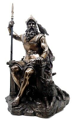 "New 12""h Pagan God Alfather Odin Statue Figurine Norse Viking Ruler Of Asgard"