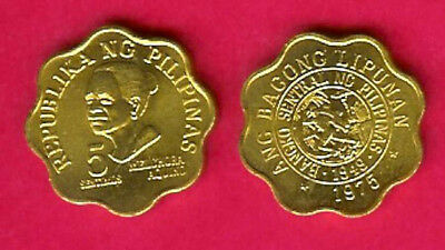 Philippines 5 Sentimos 1975 Unc Melchora Aquino(Scalloped)Redesigned Bank Seal W