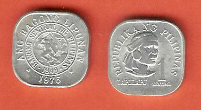 Philippines 1 Sentimo 1976 Unc Lapu Lapu Head 3/4 Right