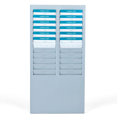 Flexzion Time Card Rack 5Slots Wall Mounted Holder Compatible w/ Attendance Time