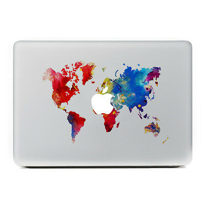 World Map Global Laptop MacBook Sticker Skin MAC Decal For Apple Pro Air Retina