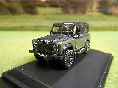 Oxford Landrover Defender 90 Autobiography Grey Station Wagon 1/76 76Lrdf009Au