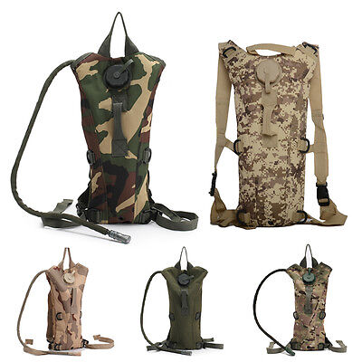 New  Hydration Backpack Packs Hiking Camping Cycling 3L W/ Water Bladder Bag